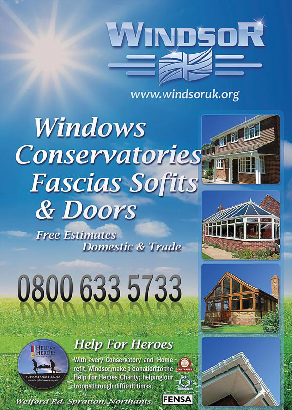 Promotional Business Leaflet for Windsor Northampton